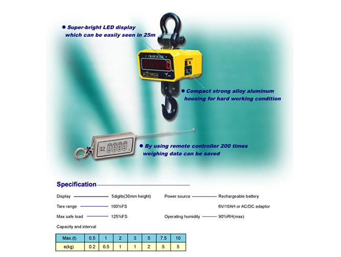 Timbangan Gantung Digital Crane Scale Kapasitas 300Kg